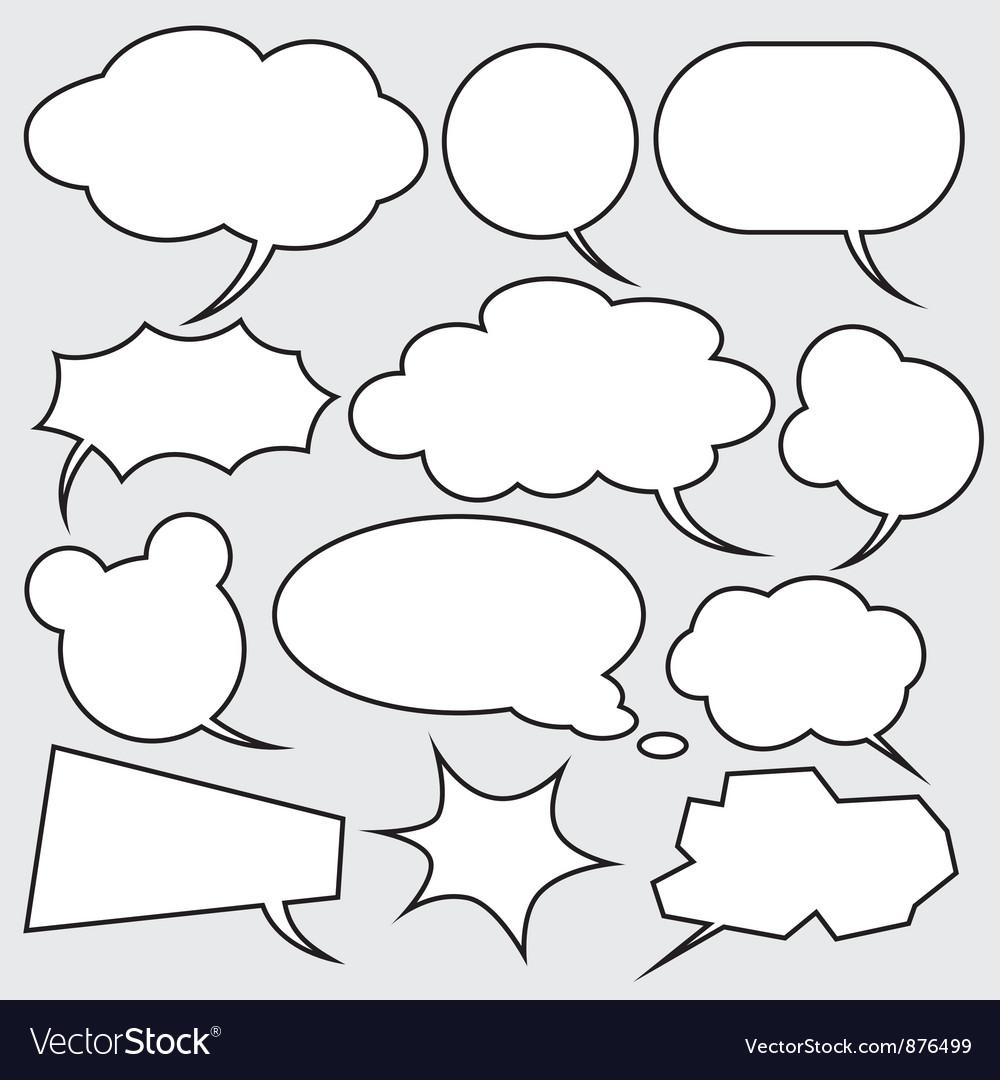 Comics style speech bubbles vector | Price: 1 Credit (USD $1)