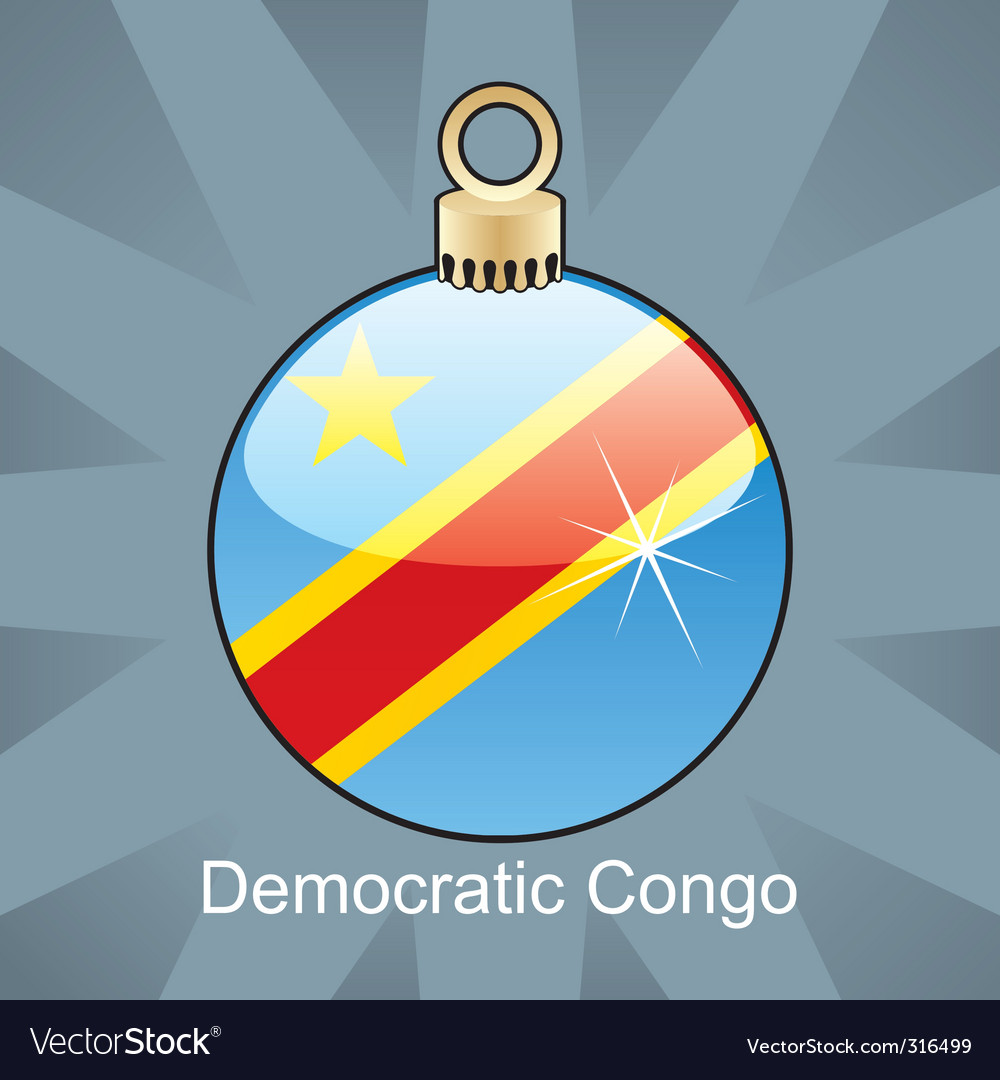 Democratic congo flag on bulb vector | Price: 1 Credit (USD $1)