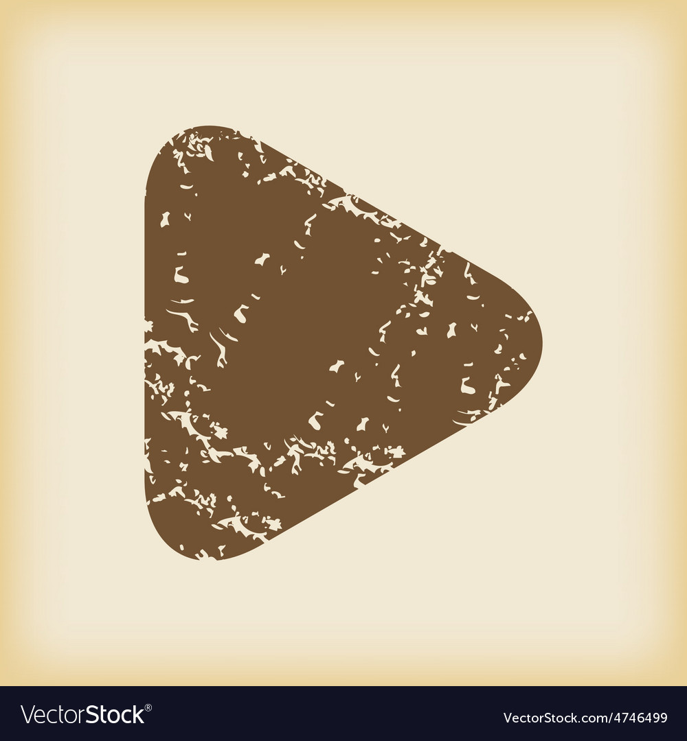 Grungy play icon vector   Price: 1 Credit (USD $1)