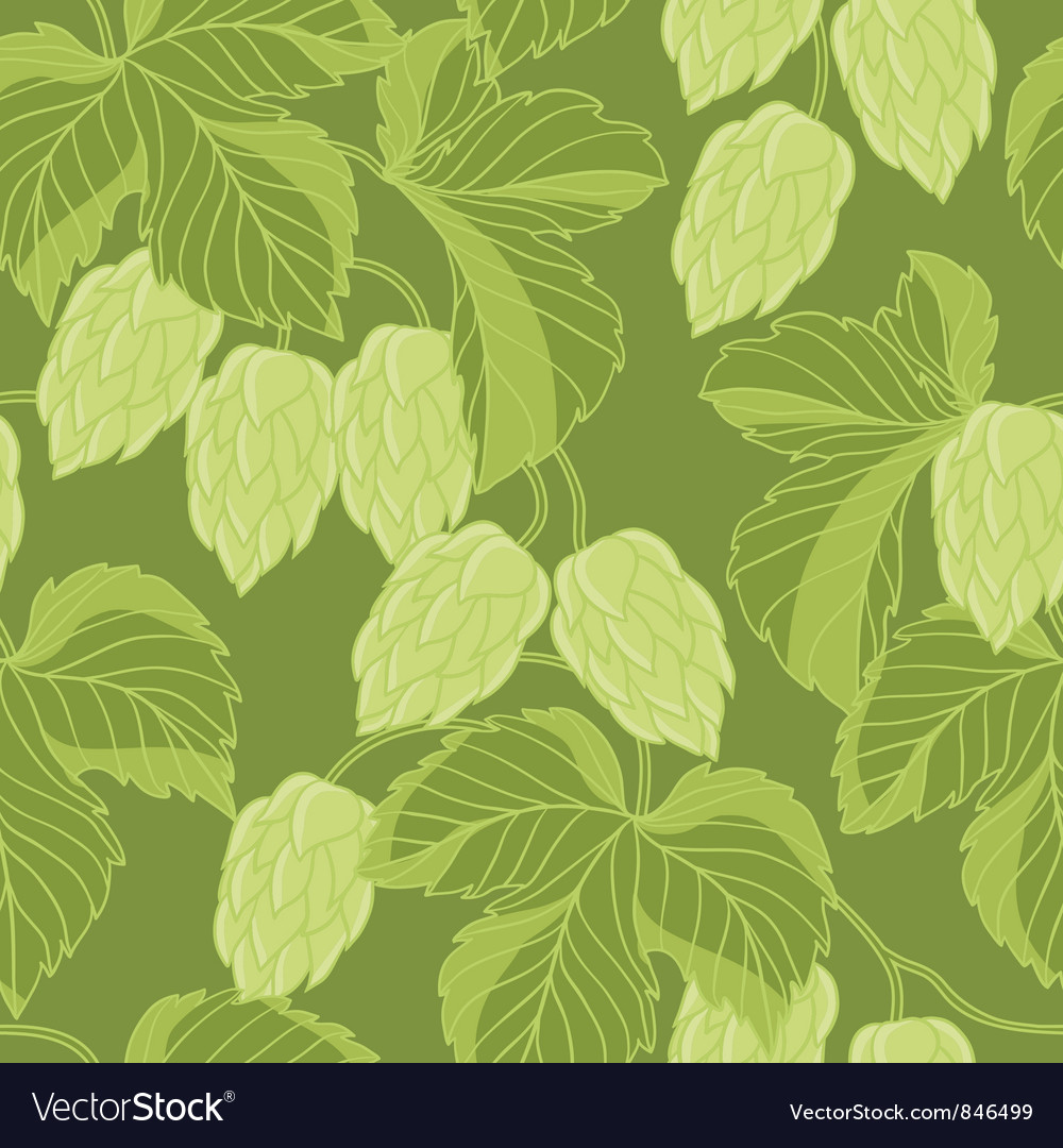 Hop ornament on green background vector | Price: 1 Credit (USD $1)