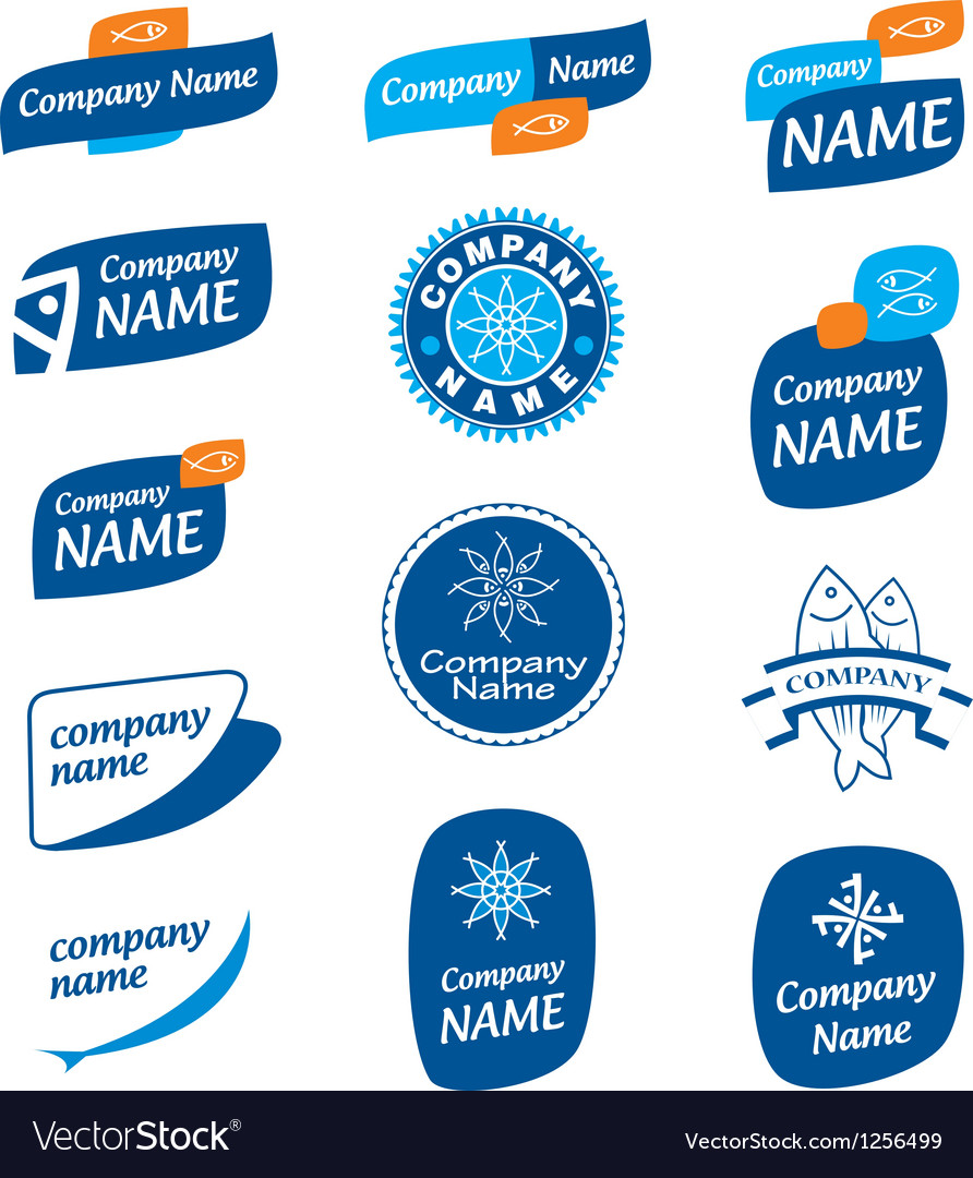 Logo frozen seafood vector | Price: 1 Credit (USD $1)