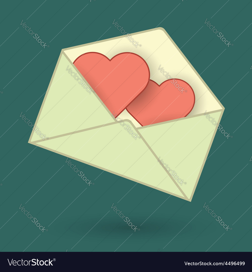 Love message vector | Price: 1 Credit (USD $1)