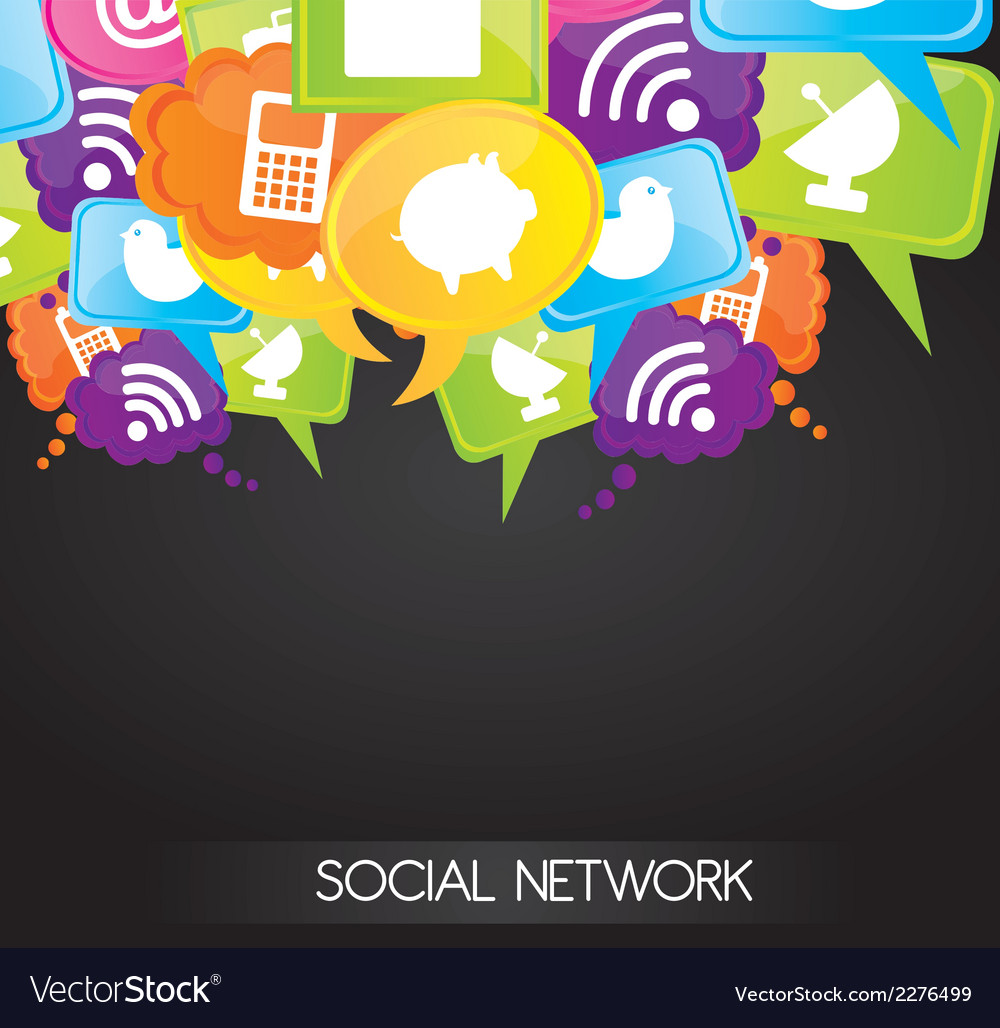 Social media design elements vector | Price: 1 Credit (USD $1)