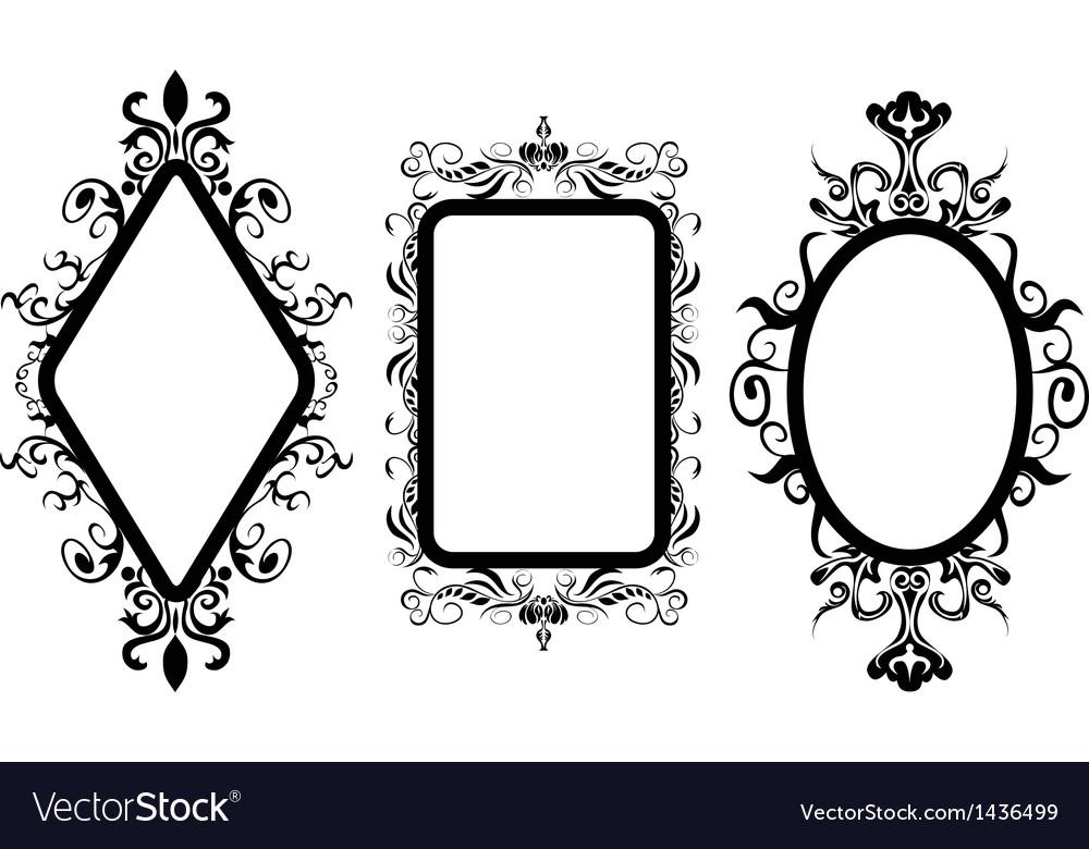 Vintage frame mirror vector | Price: 1 Credit (USD $1)