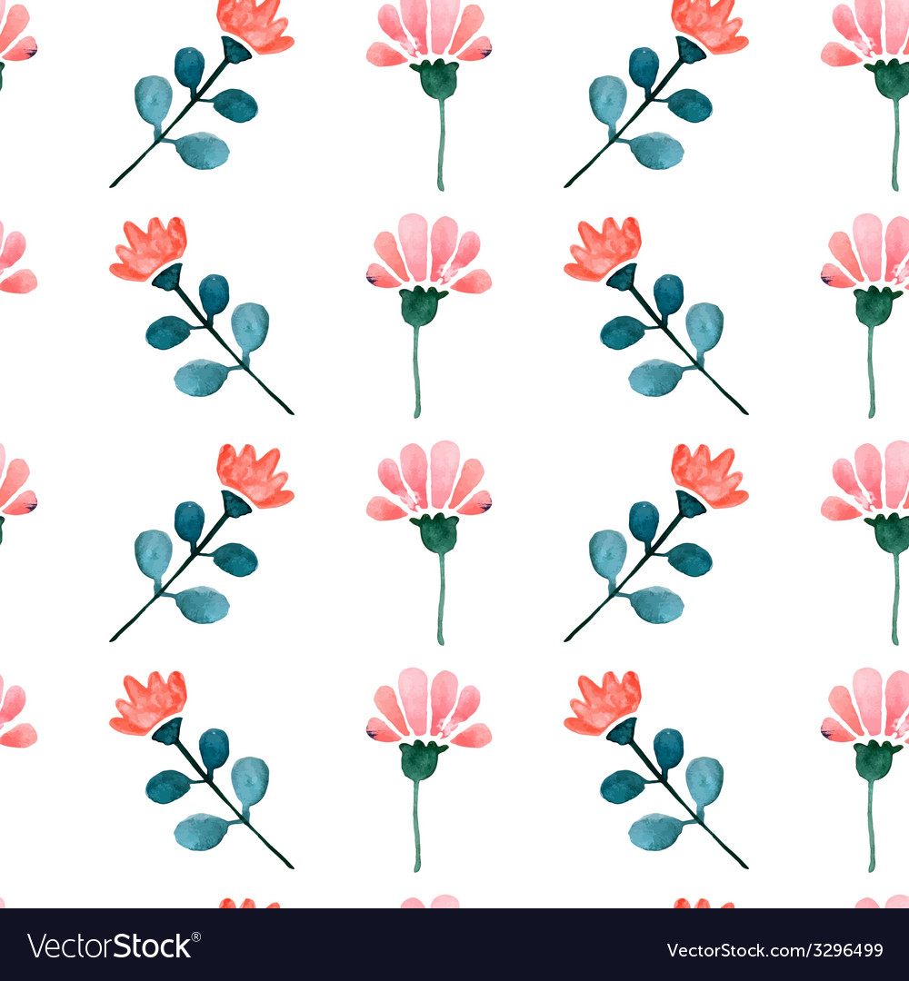 Watercolor seamless pattern vector   Price: 1 Credit (USD $1)