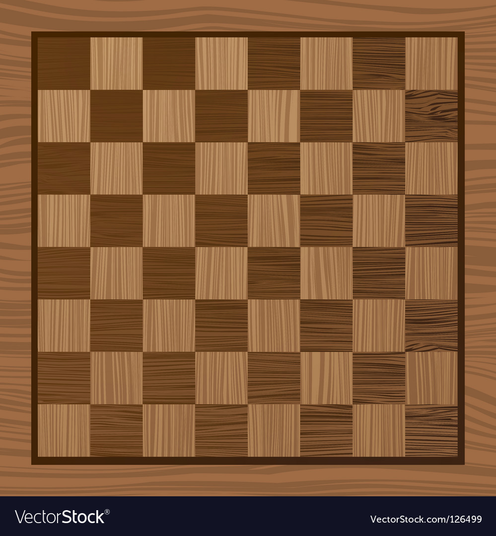 Wooden chess board vector | Price: 1 Credit (USD $1)