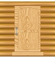 Door in wooden house vector