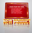 New product banner vector