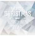 Merry christmas card triangles design vector
