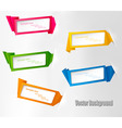 Five origami banners vector