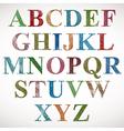 Vintage style alphabet vector