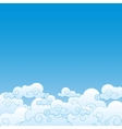 Good weather background blue sky with clouds vector