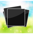 Blank photo frames for your summer photos blurred vector