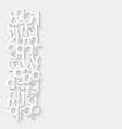 Abstract background with paper alphabet vector