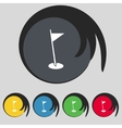 Flag hole sign icon sport symbol set colour vector