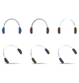 Headphones icons set vector