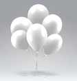 Bunch of white glossy inflatable balloons vector