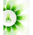 Eco leaf abstract background vector