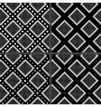 Black and white rhombuses patterns vector