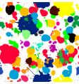Ink splats pattern in colors vector