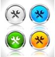Metal web buttons vector