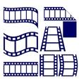 Film strip icon set vector