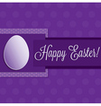 Bright happy easter card in format vector