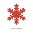 Colorful ikat chevron christmas snowflake vector