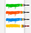 Colorful paint brushes vector