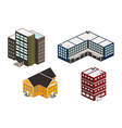 Isometric building set vector