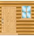 Window and door in house from tree vector