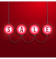 Glowing sale realistic background vector