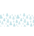 Blue decorated christmas trees silhouettes textile vector