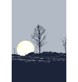 Tree and moon vector