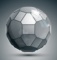 Plastic pixel grayscale dimensional sphere created vector
