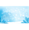 Blue christmas background with tree branches and vector