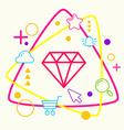 Diamond on abstract colorful geometric light vector