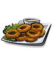 Fried squid rings vector