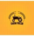 Farm tractor design background vector