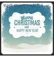 Merry christmas vintage card template vector