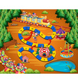 Clown circus game vector