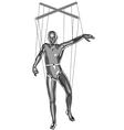 Marionette puppeteer vector