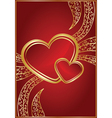Red background for valentine day vector