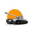 World war two panzer battle tank vector