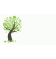 Tree ink banner vector