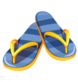 A pair of blue sandals vector