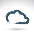 Hand drawn simple cloud icon brush drawing vector