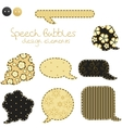 Set of different speech bubbles design elements vector