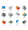 Isometric-style icons for electronics vector