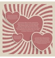 Abstract heart retro grunge background vector